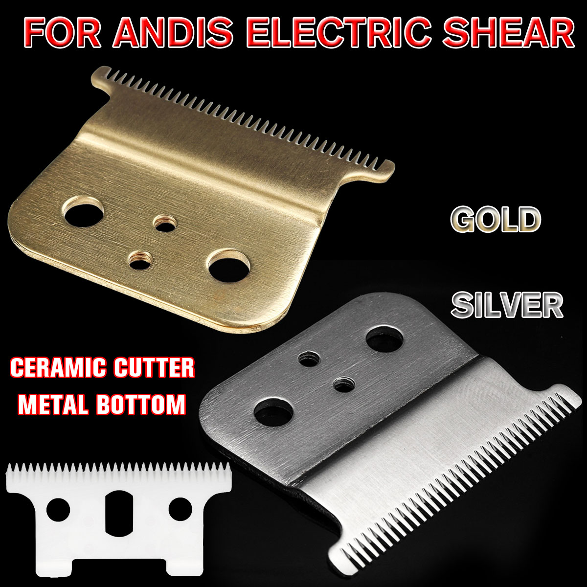 1/2Pcs Strong Barber Ceramic Shop Cutter Metal Bottom Cutter For Andis Electric Hair Trimmer Cutting Machine Clipper Accessories