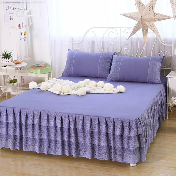 Korean Lace Bed Skirt Mattress Cover Bedding Set Bed Cover Bed Sheet King Queen Full Twin Sizes Fitted Sheet 180*200cm