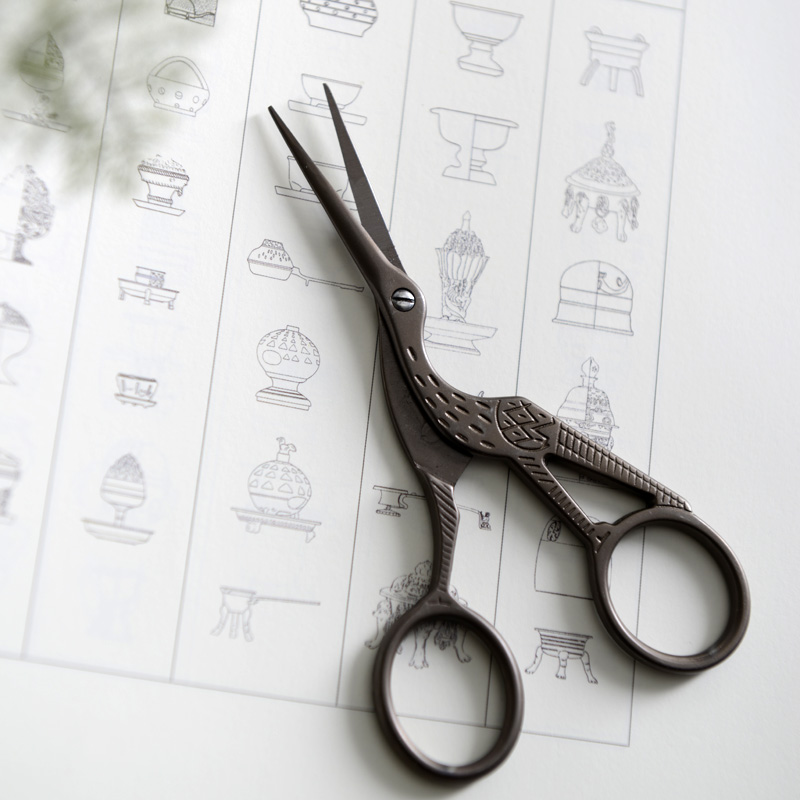 High Quality Mini Vintage Scissors Heron Shaped Utility Knife Scissors For DIY Home & Office & School Cutting Supplies