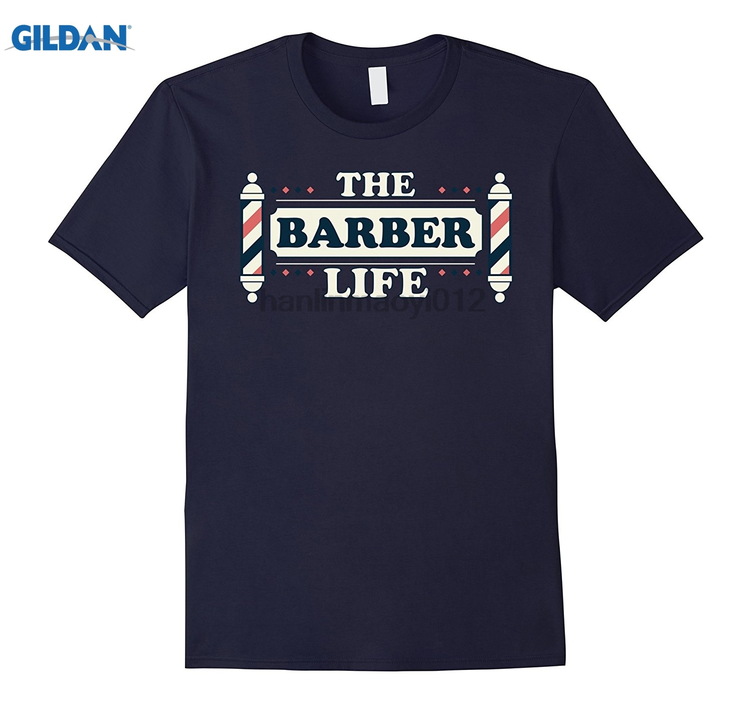GILDAN The Barber Life Funny Barber shop T Shirt Gift glasses Womens T-shirt