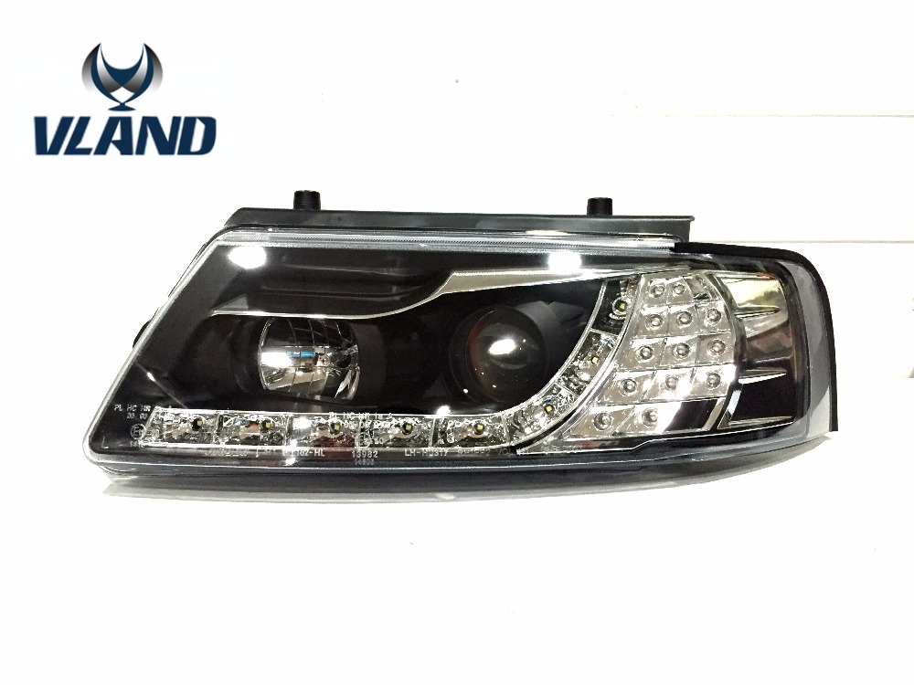 Free Shipping for Vland Car Headlamp for Passat B5 1997-2000 Headlight LED Head Lights HID Xenon Lens Headlamp headlamp polishing paste kit diy headlight restoration for car head lamp lense deep clean compuesto pulidor uv protective liquid