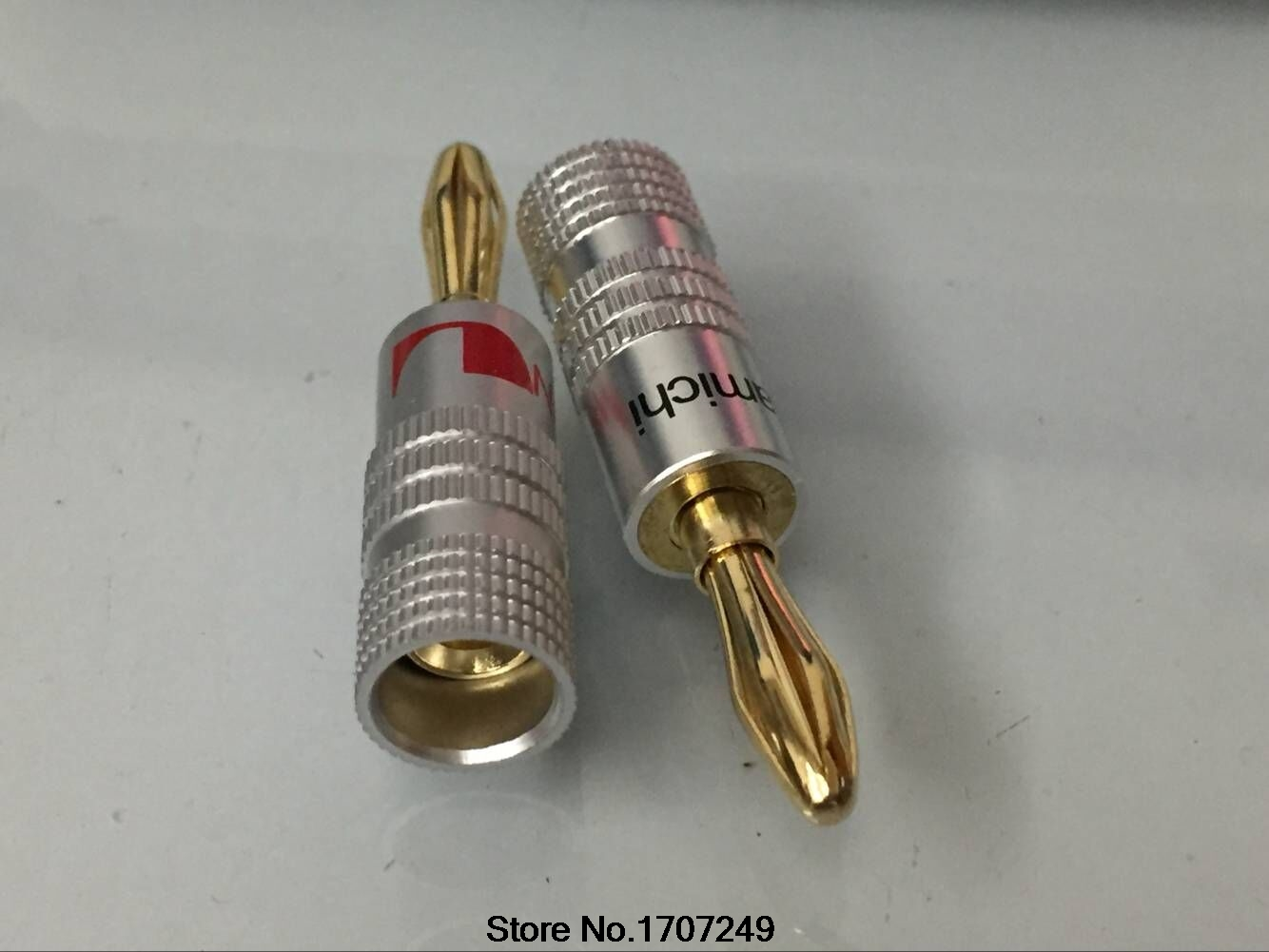 ∞Nakamichi Pure Copper Gilded 4mm Speaker connector / banana plug ...