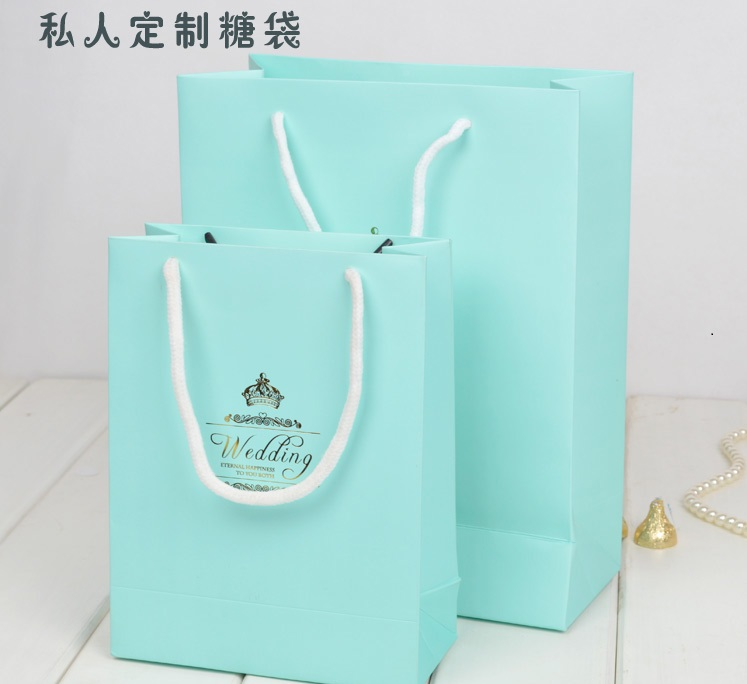 Personalised Wedding Gifts Express Delivery : Free shipping Personalized paper Tiffany blue handbag wedding souvenir ...