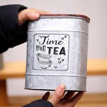 Винтажная металлическая квадратная коробка для хранения конфет, жестяная коробка для хранения с деревянной крышкой, банка для кофе, чая, приправа, ювелирный чехол