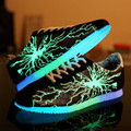 17 hot sunshine free of charge men's fluorescent shoes ultra-light material light shoes casual shopping men's luminous shoes