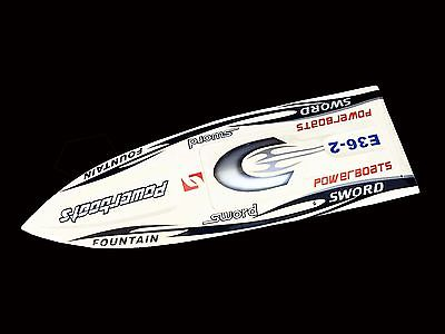 E36 PNP Sword Fiber Glass Racing Speed RC Boat W/1750kv Brushless Motor/120A ESC/Servo Boat White e36 pnp sword fiber glass racing speed rc boat w 1750kv brushless motor 120a esc servo boat yellow