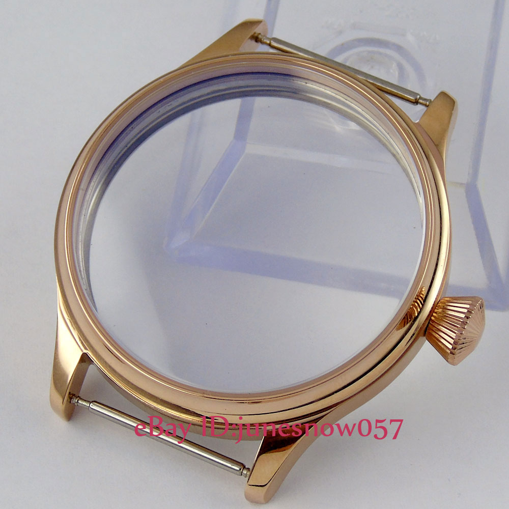 New high quality 44mm golden stainless steel Watch Case fit 6497 6498 EAT movement C36New high quality 44mm golden stainless steel Watch Case fit 6497 6498 EAT movement C36