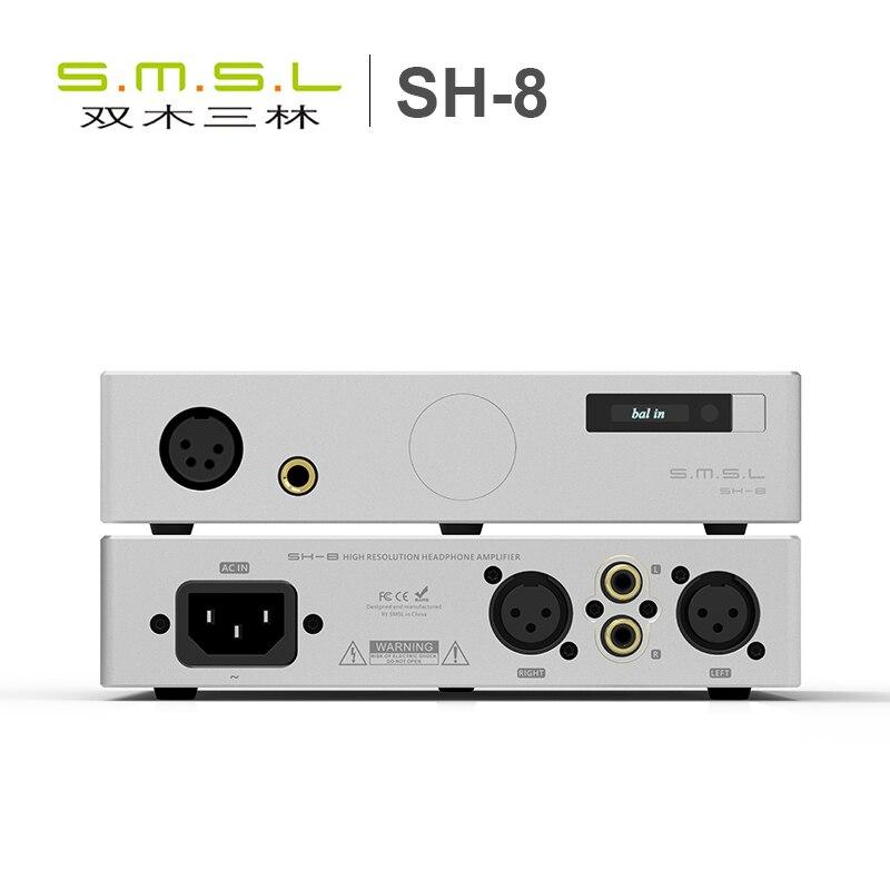 SMSL SH 8 Full Balanced Desktop HIFI Headphone Power Amplifier AMP High Performance with RCA XLR