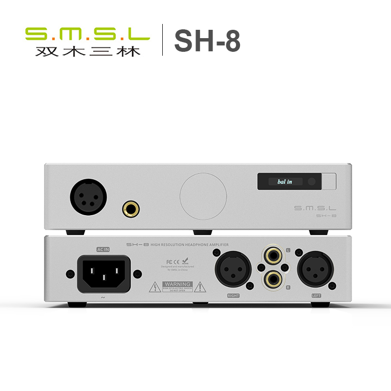 купить SMSL SH-8 Full Balanced Desktop HIFI Headphone Power Amplifier AMP High Performance with RCA/XLR Intput 6.35mm/Balanced Output по цене 12918.85 рублей