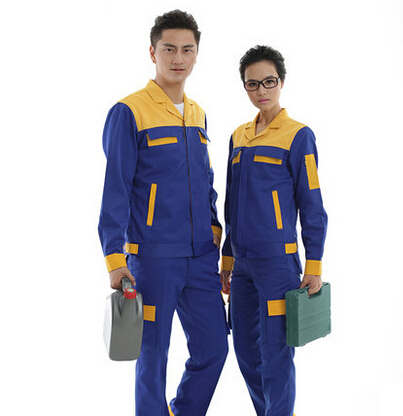 Set of Coat+Pants long sleeve gas station service uniform anti-static uniform 4s service coat set of coat pants car service uniform 4s service coat repair clothes working uniform