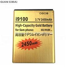 QiAN SiMAi 2450 mAh Reemplazo de Oro Batería Recargable Para El Samsung GALAXY S2 SII i9100 S 2 II i9101 i9103 i9105 i9108