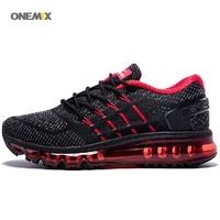 ONEMIX New Arrival Running Shoes Unique Tongue Design Male Breathable Sport Shoes Air Sneakers For Outdoor