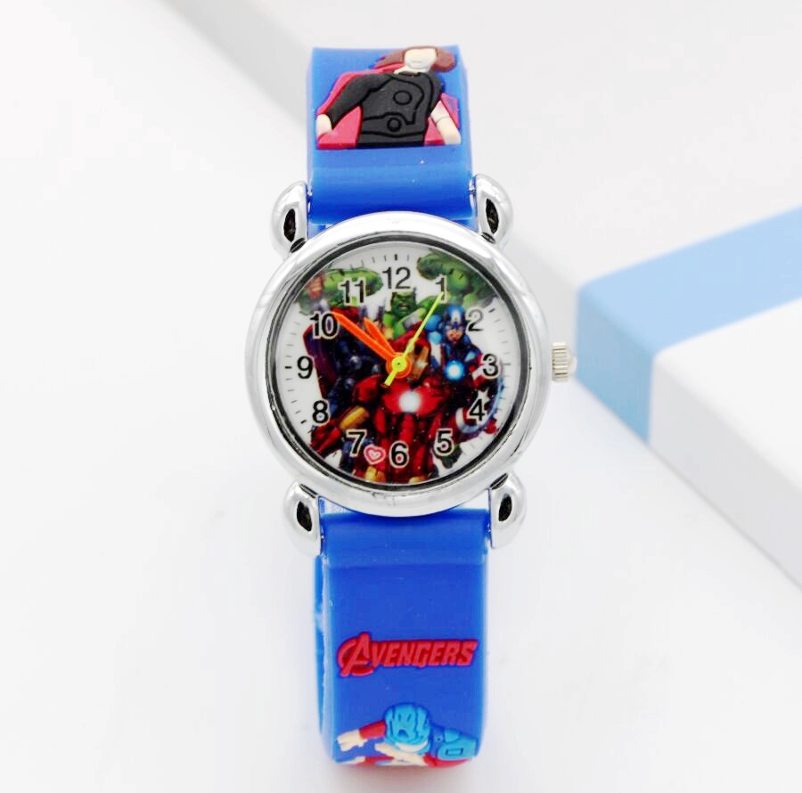 Captain America Kids Watch Children Watches Marvel Super Hero Fashion Simple Luminous Leather Quartz Wristwatch Boys Girls Clock