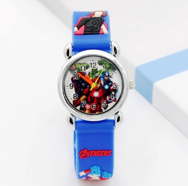Captain America Kids Watch Children Watches Marvel Super Hero Fashion Simple Lum