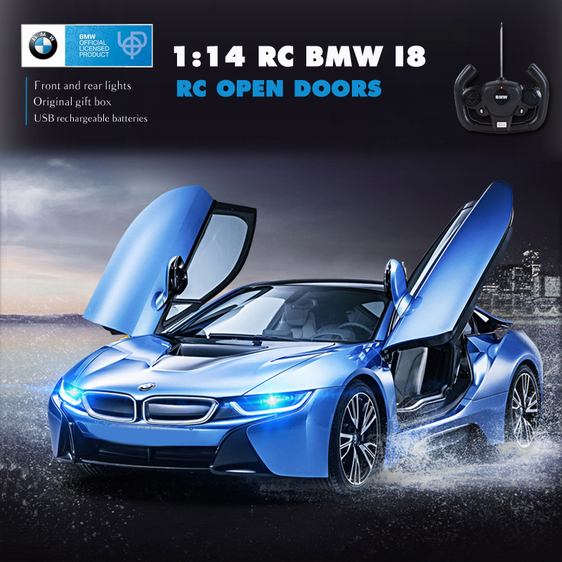 Rastar Bmw Rc Car 1 14 I8 Remote Control Toys Rc Transform Open Door