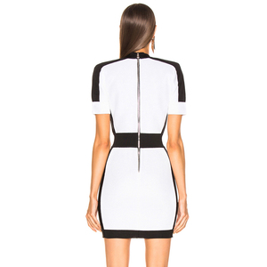 Image 2 - Adyce 2020 新夏の女性の包帯ドレス vestido セレブイブニングパーティードレスセクシーなディープ v 半袖ミニボディコンクラブドレス