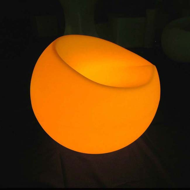 D56*H47cm Factory No.SK-LF33 LED Sofa Chair Glowing 16 Color Changing Hard PE Material For Wedding Decoration Party Event 1pc