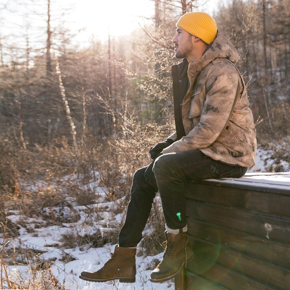 SIMWOOD Новинка зимы камуфляж 90% белое пуховое пальто для мужчин пуховик с капюшоном куртки Мода Военная Униформа верхняя одежда 180429