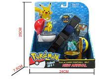 Poke Clip N Carry PokeBall Cross Belt Action Figure Poke Pikachu Toy Poke Belt Pretend Adjustable Christmas Gift