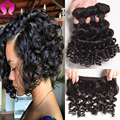 8A Mink Brasileira Curly Virgem Cabelo Barato Do Cabelo Brasileiro 3 feixes de Ondas Soltas Virgem Cabelo Kinky Curly Weave Do Cabelo Humano feixes