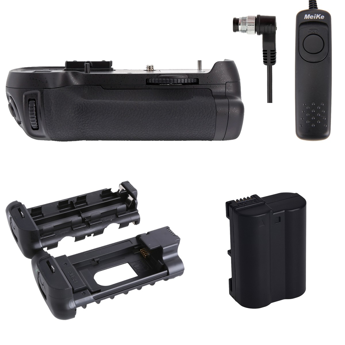 Meike MK-D800 Battery Grip for Nikon D800 D810 D800E as MB-D12 + EN-EL15 +Shutter Release meike mk dr750 mb d16 built in 2 4g wireless control battery grip for en el15 nikon d750 dslr camera