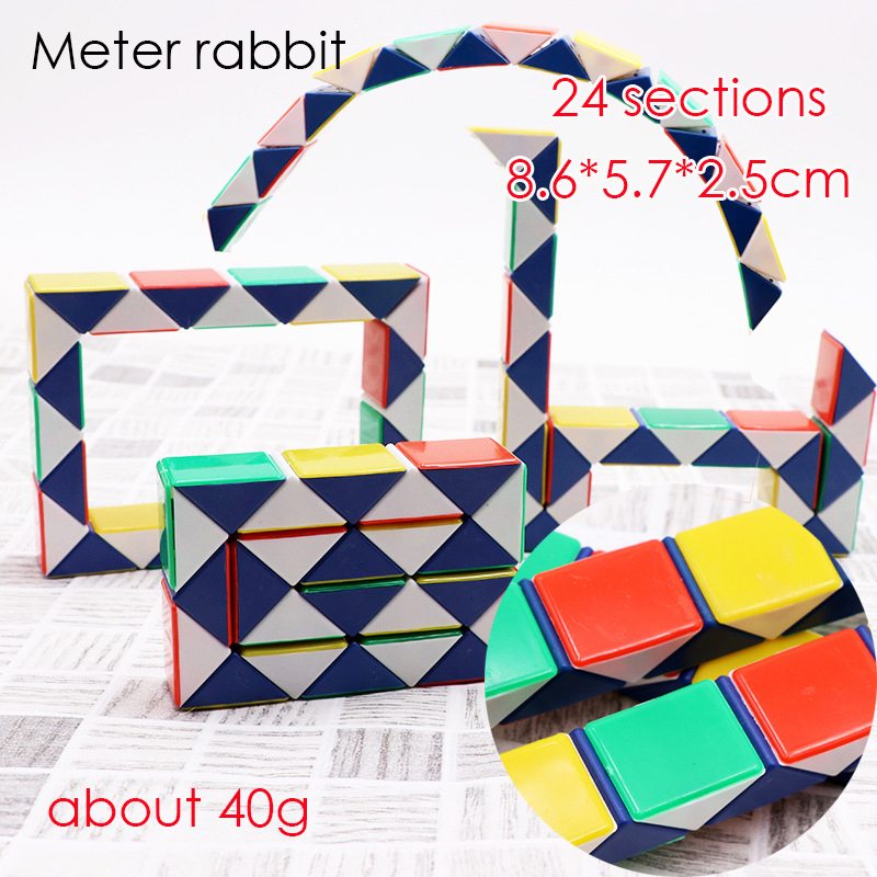 Puzzles & Games 36cm Magic Snake Ruler Magic Ruler Puzzle 24 Speed Antistress Cube Twist Snake Folding Educational Toy For Kids Child Magic Cube Toys & Hobbies