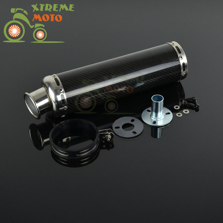 Motorcycle AK Exhaust Pipe Muffler Carbon Fiber Slip on For Scooter ATV Street Bike Pit bike Мотоцикл