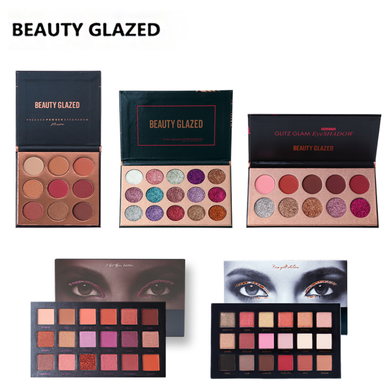 BEAUTY GLAZED Brand Natural Makeup Palette Makeup Long-lasting Eye Shadow Easy To Wear Eyeshadow Natural Matte Shimmer Hot Sale free shipping hot sale 252 colors eye shadow makeup party cosmetic shimmer matte eyeshadow palette set fit for women