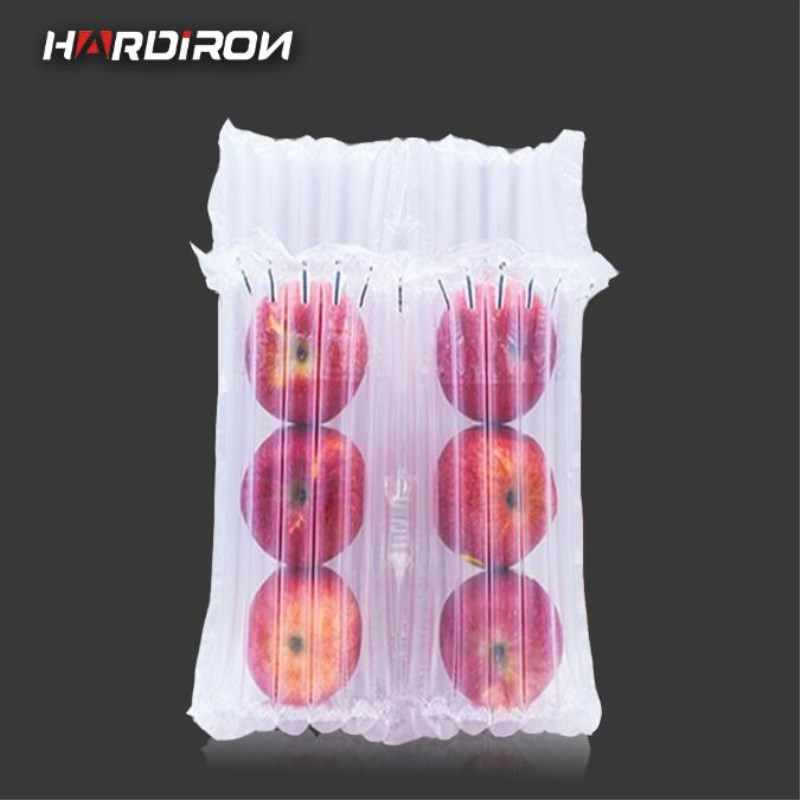 HAIDIRON 10pcs Fruit Air Buffer Bag Air Cushion Clear Buffer Inflatable Apple Plastic Packaging Protect Pouch Air column bag
