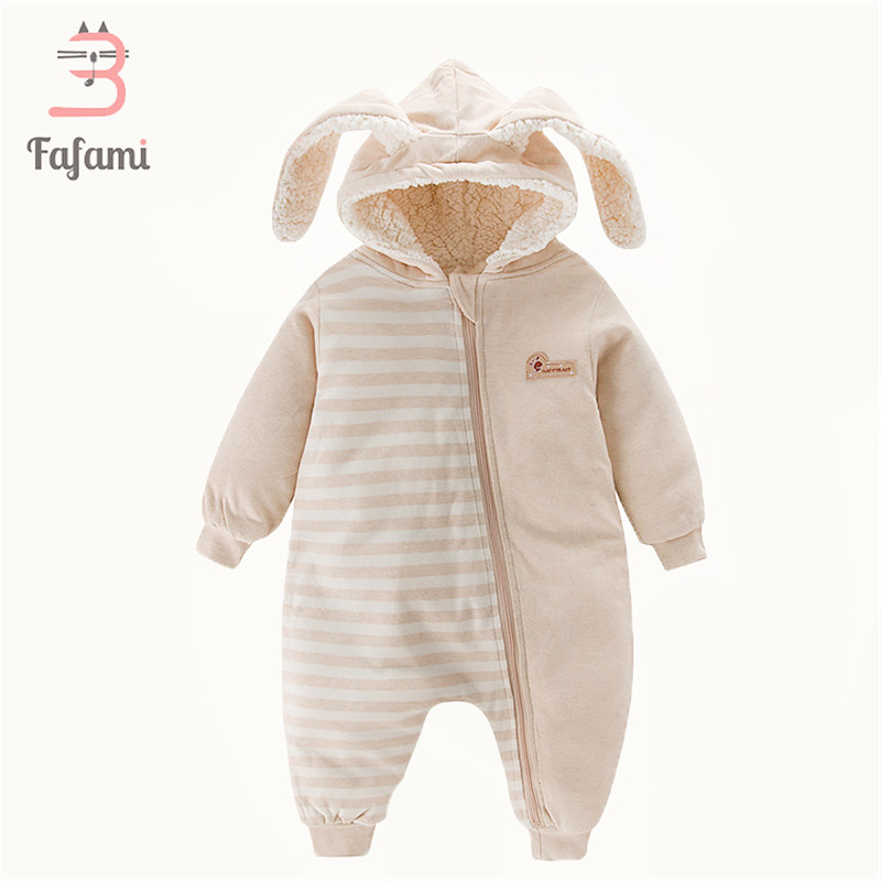 Sherpa Baby clothes winter Babies romper for newborn Snowsuits baby boy girl clothes new year rompers Rabbit coat bebe snow wear