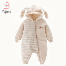 ef9186c8c Sherpa Baby clothes winter Babies romper for newborn Snowsuits baby boy  girl clothes new year rompers