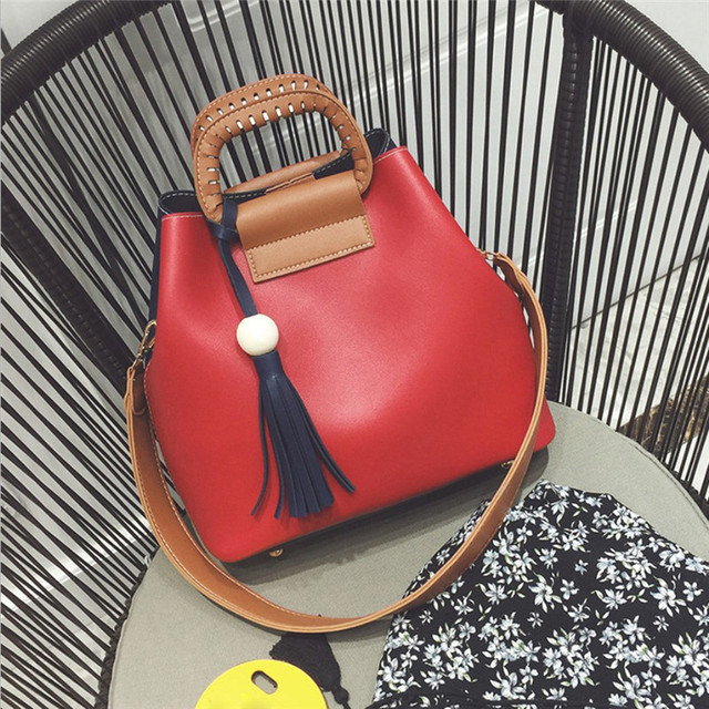 2016 hot sale 100% new and high quality Fashion Ladies Shoulder Bag Handbag Tassel Messenger Hobo Crossbody Bag Tote wholesale