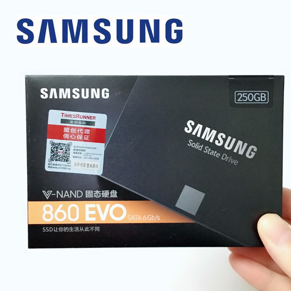Samsung 860 EVO 860EVO 250GB 250G 2.5 SATA3 SSD PC Desktop Laptop Server 2.5 Internal Solid State Dribe SSD 500GB 1TB 250GB