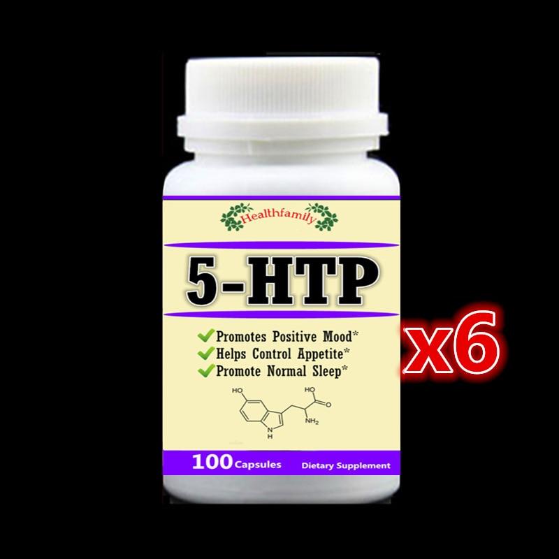 6 bouteille 600 caps, 5-HTP Supplément, Réduire Le Stress, Positive Soutien de L'humeur, de Promouvoir La Normale Aide Au Sommeil, contrôler L'appétit, 5HTP
