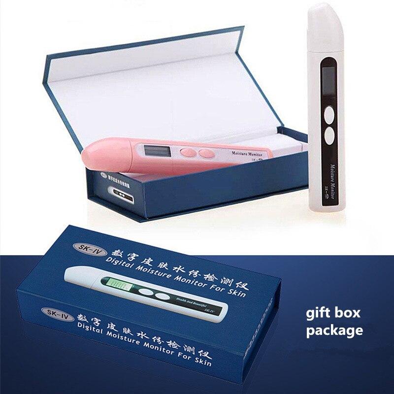 Digital Precision Skin Sensor Tester Facial Moisture Water Oil Detector Analyzer Skin Care Tool With Retail Box