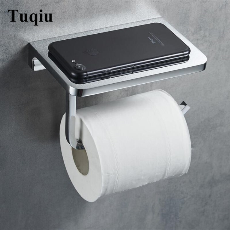 top high quality total brass wall mounted Bathroom Lavatory Toilet Paper Holder Tissue Holder ,phone holder bathroom accessories 2016 newest verto toilet paper holder bathroom abs surface double tissue accessories quality wc soap holder can hold phone z3