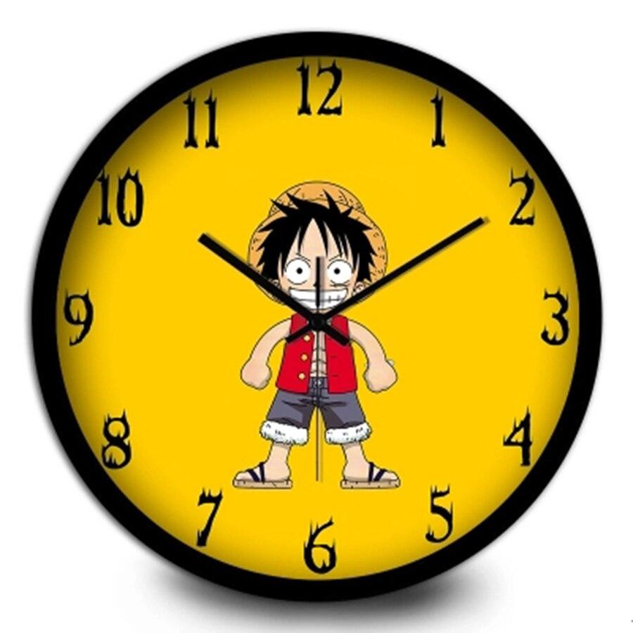 Cartoon Children Metal Silent Creative Wall Clock Art Craft Wall ...