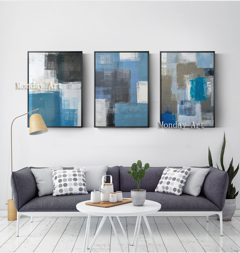 Canvas painting 3 Panel Hand Painted Abstract Oil Paintings wall pictures Artwork home Decoration For Living Room hotel decor