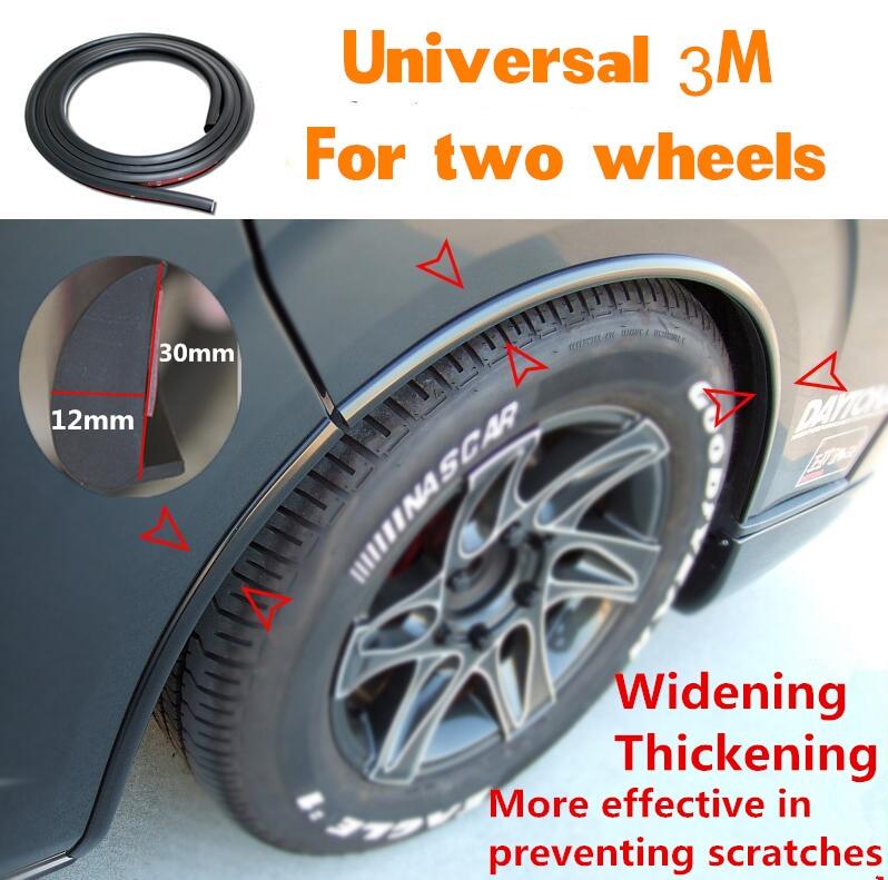 Car Wheel Trim 3m Universal Rubber Fender Flares