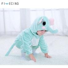 Elefanten Kostüm Kigurumis Cosplay Baby Mädchen Jungen Nette Onesie Kinder Kleidung Lustige Warme Weiche Pyjama Flanell Outfit Tier Halloween