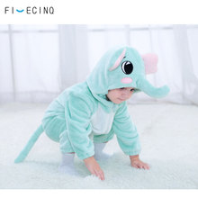 Elephant Costume Kigurumis Cosplay Baby Girl Boy Cute Onesie Kids Clothes Funny Warm Soft Pajama Flannel Outfit Animal Halloween