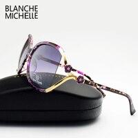 Vintage Flower Polarized Sunglasses Women Brand Designer 2016 Luxury Uv400 Oversized Sun Glasses Spots Oculos Feminino
