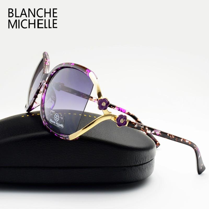 vintage flower polarized sunglasses women brand designer 2016 luxury uv400 oversized sun glasses spots oculos feminino with box