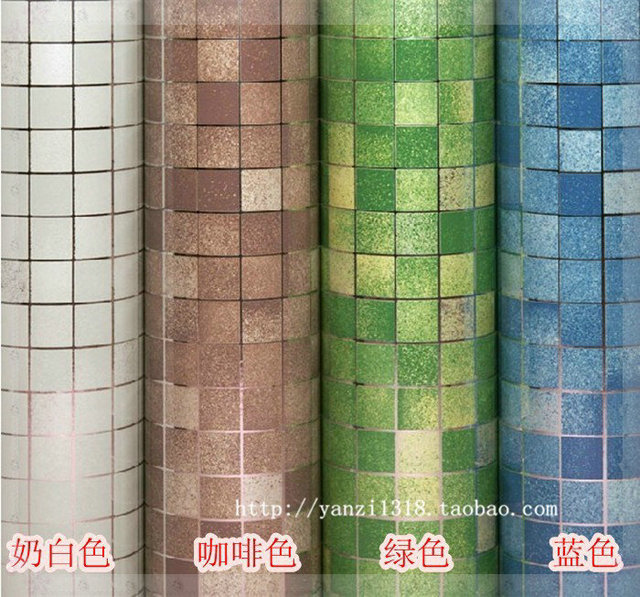 aliexpress.com : acquista pareti del bagno carte pvc carta da ... - Carta Da Parati Adesiva Per Bagno