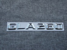 3D ABS Plastic Car Trunk Rear Letters Badge Emblem Decal Sticker for Mercedes Benz GLA Class GLA260