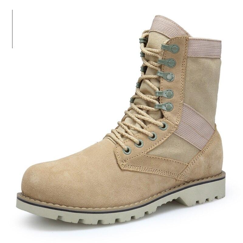 Grande ankle À Désert Mid Boots Casual Mode Chevilleamp; calf Travail Boots Chaussures Bottes Mid Toile Cuir Belle Sécurité Hommes En Outillage Et De Lacets veau cRLjA34q5S
