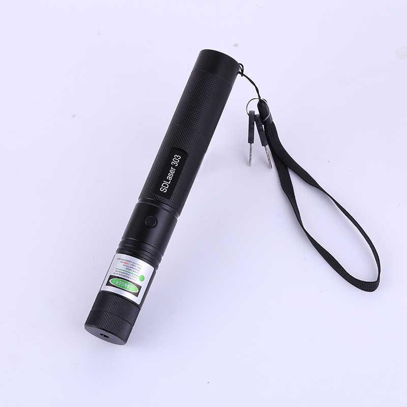 Высокая мощность SD 303 зеленый красный лазерная Верде Pen Lazer указатель Сжигание луч сжечь матч с 18650 Батарея Зарядное устройство