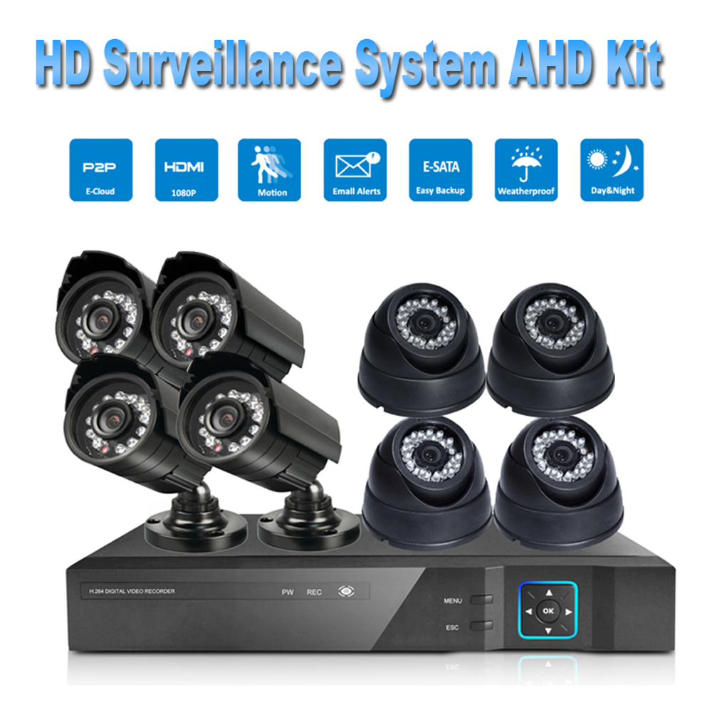 PUAroom 8CH IP66 night vision IR Cut surveillance camera RoHS FCC CE approved H.264 onvif video recording Security Camera