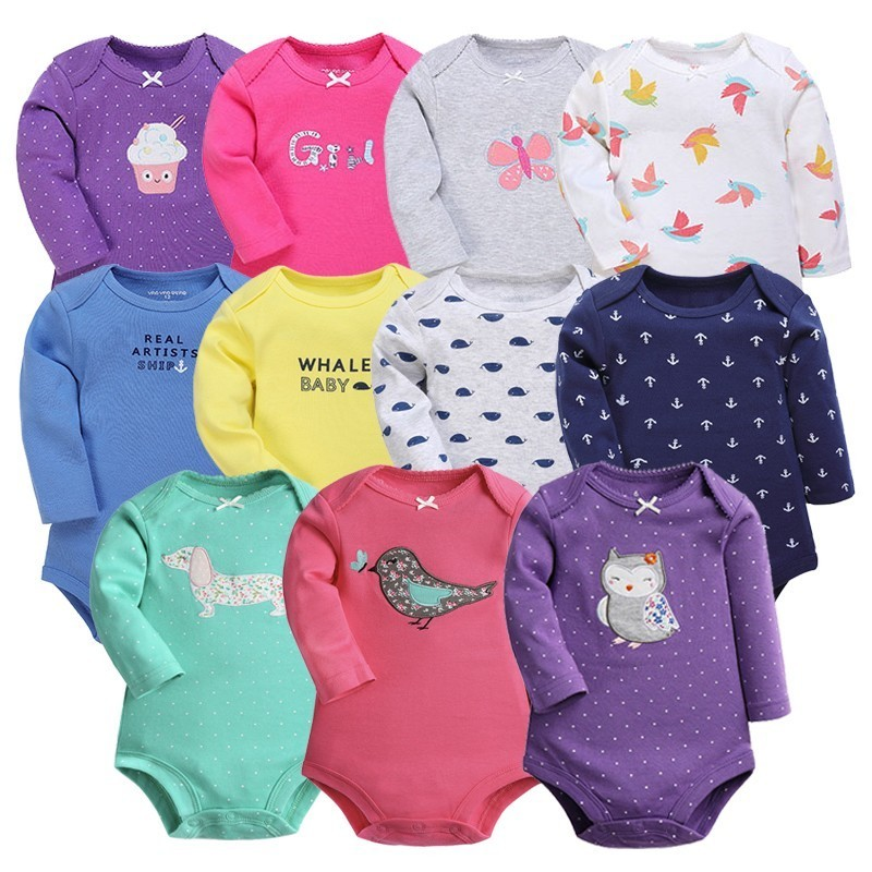 Baby Girl Bodysuits Set Long Sleeves Body Baby Cotton Bodysuits Baby Girl/Boy Clothes Cartoon Newborn Infant Baby Clothing