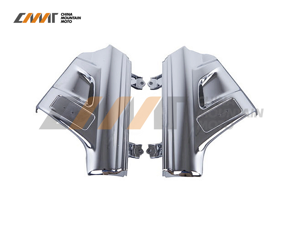 Left & Right Chrome Front Fender Covers case for Honda GL1800 GOLDWING 2001-2005 New chrome motorcycle front fairing headlight lower grill case for honda goldwing 1800 gl1800 2001 2011
